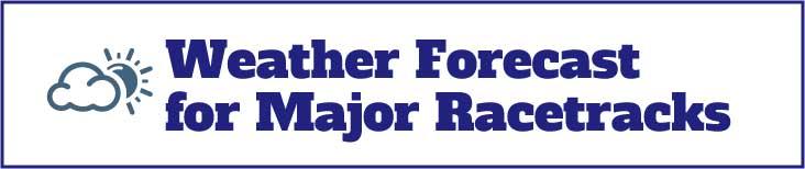 Weather forecast Belmont Racetrack