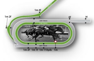 Santa Anita Track Configuration Illustration
